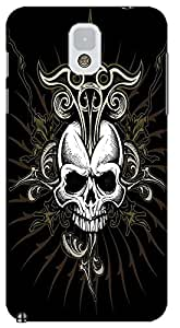 Fantastic Faye Cell Phone Cases For Samsung Galaxy Note 3 No.1 The Special Design With Skull Heads