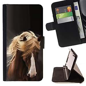 - Queen Pattern FOR Samsung Galaxy S3 III I9300 /La identificaci????n del cr????dito ranuras para tarjetas tir????n de la caja Cartera de cuero cubie - mane horse hair golden brow