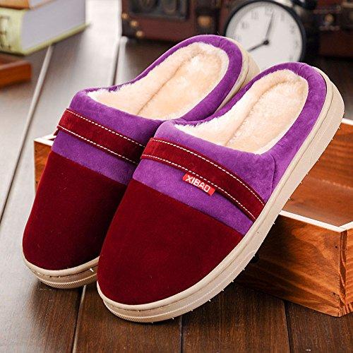 Fankou autunno inverno Cartoon carino uomini e donne adulti pantofole di cotone cotone caldo scarpe antiscivolo casa pacchetto con scarpe Indoor