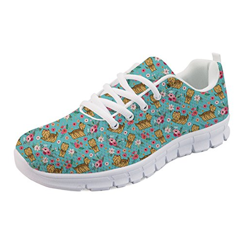H849AQ2 Yorkshire Coloranimal Flower Terrier Damen ColoranimalK Freizeit 0xnIw58q