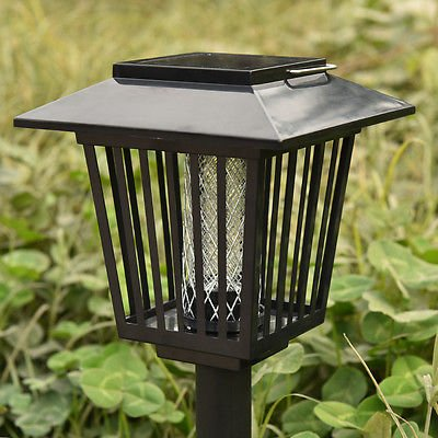 Good concept Mosquito Insect Zapper Accent Kill bugs killer with Solar LED Garden Light Lamp