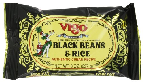 Price comparison product image Vigo Black Beans and Rice,  8-Ounce Pouches (Pack of 12)