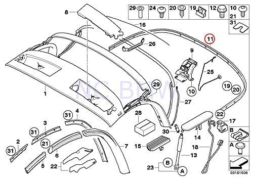 BMW Genuine Rear Tack Strip (Rear Tack Strip)