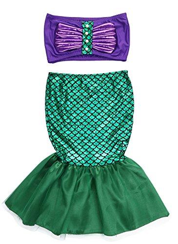 stylesilove.com Little Girl Princess Mermaid Swimwear Bikini