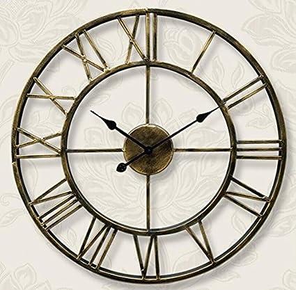 Paredes huecas reloj de hierro Metal marco Faire reloj digital ...