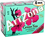 AriZona Green Tea With Ginseng And Honey – 12 PK, 11.5 OZ Can (Pack of 4, Total of 48 Cans)