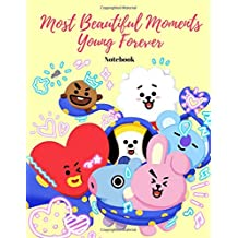 Kpop Most Beautiful Moments Young Forever Notebook: Back to School Composition Wide-Ruled Journal for Grade School Girls
