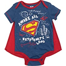 Justice League Baby Boys' Bodysuit and Cape - Batman, Superman and The Flash