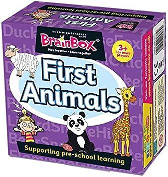 Brain Box Animales First Animals, Juego de Mesa, Multicolor, 17x17 (31690073A): Amazon.es: Juguetes y juegos