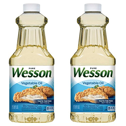 Wesson Vegetable Oil, 48 oz (Pack of 2) -