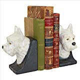 Design Toscano SP2134 Novelty Classic Themes West Highland White Terrier Cast Iron Sculptural Bookend Pair