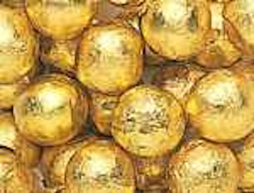 Gold Foiled Milk Chocolate Balls 5LB Bag -