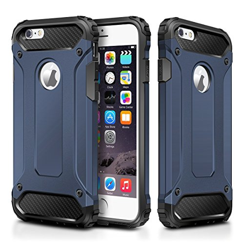 IPhone 6 Case,Wollony Rugged Hybrid Dual Layer Armor Protective Back Case  Shockproof Cover For IPhone 6 4.7 Inch   Heavy Duty   Slim Hard Shell  Protection ...