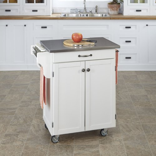 Home Styles 9001-0022 Create-a-Cart 9001 Series Cuisine Cart with Stainless Top, White, 32-1/2-Inch by Home Styles (Image #1)