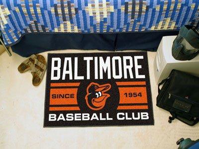 Baltimore Orioles Baseball Rug (Baltimore Orioles Baseball Club Starter Rug 19x30 - Licensed Baltimore Orioles Gifts)