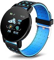 Staright 119 plus 1.3in relógios inteligentes monitor de freqüência cardíaca relógios esportivos pulseira smar