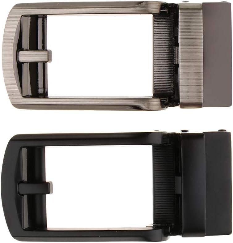 Baoblaze Hebilla de Cintur/ón Autom/ática de Reemplazo Aleaci/ón Accesorios para Ropas de Hombres Gunmetal Gray