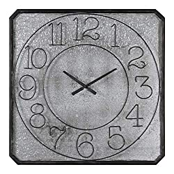 Uttermost 06436 Dominic Galvanized Metal Wall Clock