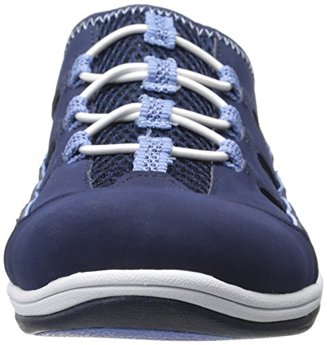 Easy Street Womens Barbara Fashion Sneaker Navy Pelle / Tessuto
