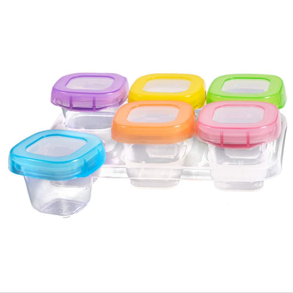 Babynahrung Aufbewahrung Behälter Zum Babybrei Einfrieren mit Silikondeckel, BPA-frei & FDA Zugelassen, Für Alle Baby & Kinder Von Hmjunboys. (60ml, 6 pack)
