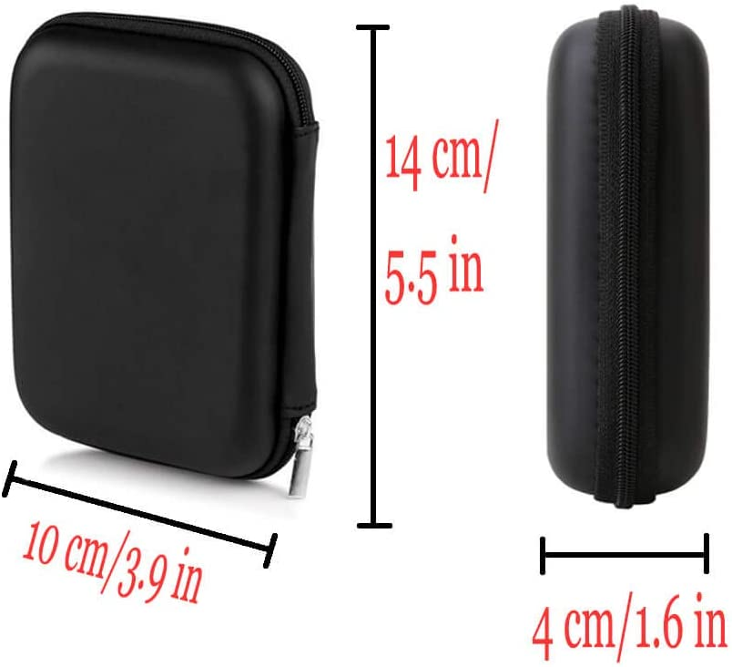 Universal 2.5 Inches Electrical Dictionary Case Black Sinzau External Hard Drive Case