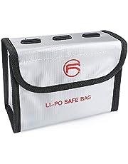 Hensych Markable Batterij Tas Explosiebestendige LiPo Veilige Tas Opslag Beschermende Brandwerende Case voor D-J-I FPV Combo/Mavic Air 2/Air 2S Drone Accessoires [Geen Batterij]