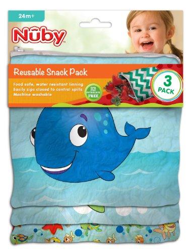 NUBY Reusable Snack Ocean Friends