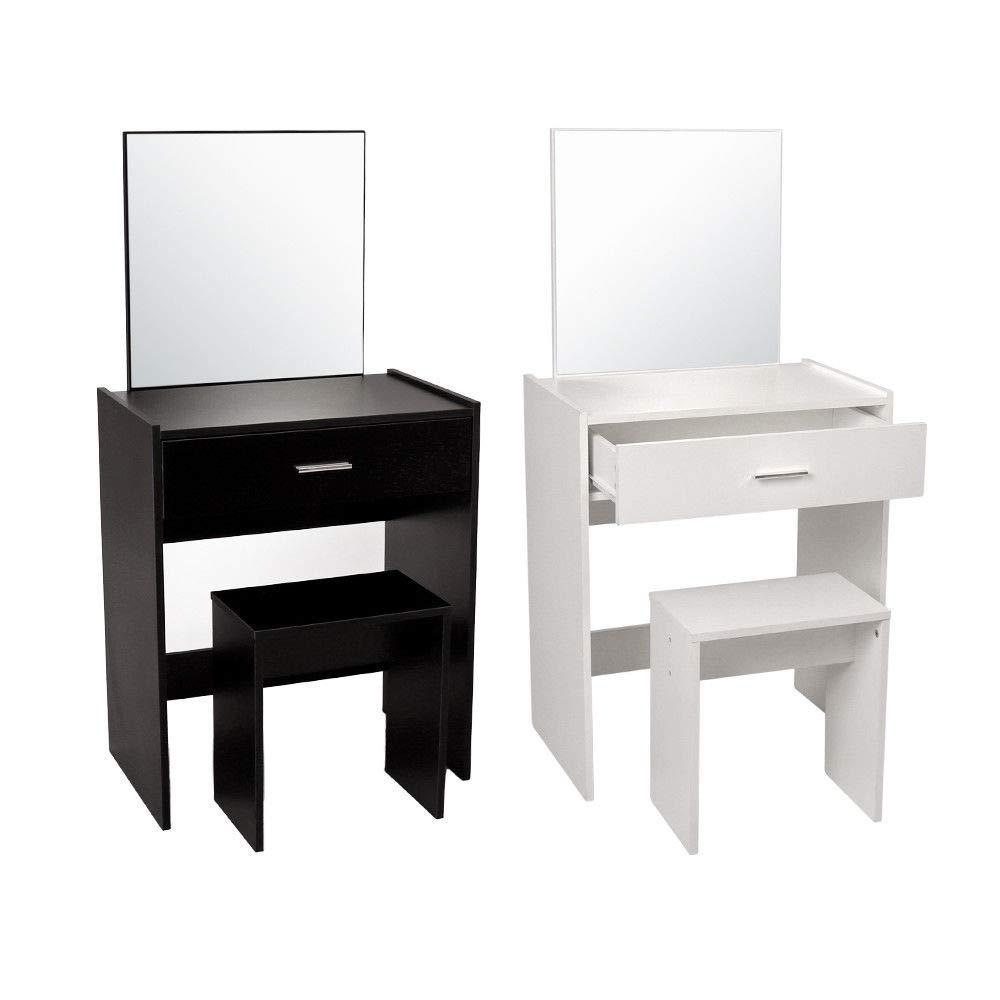 Espejo y cajón genérico para Maquillaje de Madera y secador de Vapor de Madera y con Espejo con Ventosa en Forma de T Drawer, Color al Azar: Amazon.es: ...