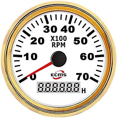 Durable 85mm Motorcycle Tachometer RPM Meter 7000RPM Gauge