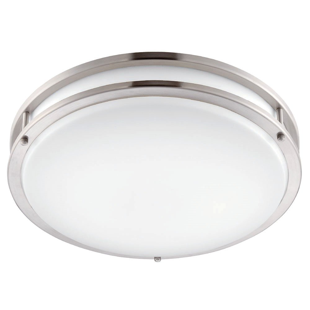 Designers Fountain EV1412L30-35 Modern 12 inch Brushed Nickel/White Low-Profile Led Ceiling Light