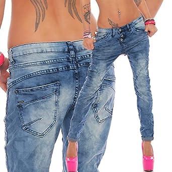 Sublevel Mujer Pantalones Vaqueros Chino Boyfriend ...