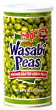 Hapi Hot Wasabi Peas - Wasabi Coated Green Peas (9.9 oz. can) (Pack of 3)