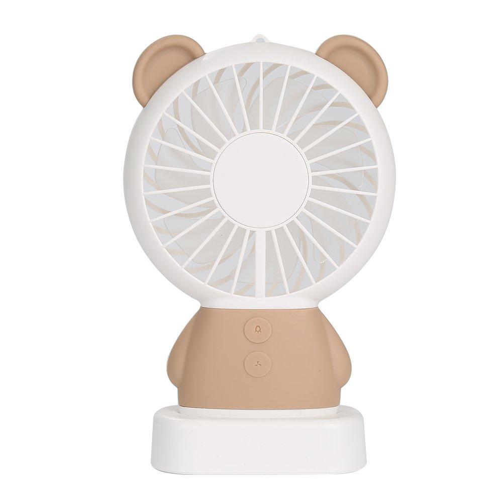 Mini Portable Coolinop Mount Fan - with Color Changing Light Fang Fan Deskt
