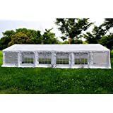 American Phoenix Canopy Tent 40x20 foot Large White Party Tent Gazebo Canopy Commercial Fair Shelter Car Shelter Wedding Events Party Heavy Duty Tent- White
