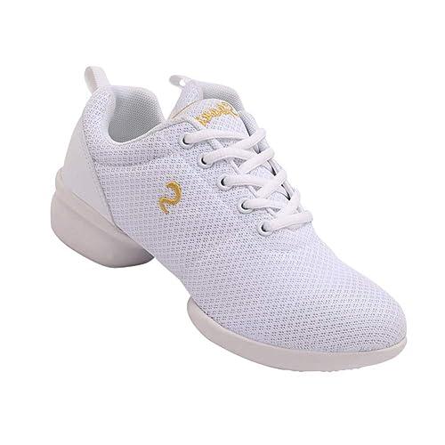 e167d9b6db6 Gtagain Zapatos de Baile para Mujer - Zapatillas Deportivas al Aire Libre  Zapatos de Jazz para Mujer Suela Suave Transpirable Neta: Amazon.es: Zapatos  y ...