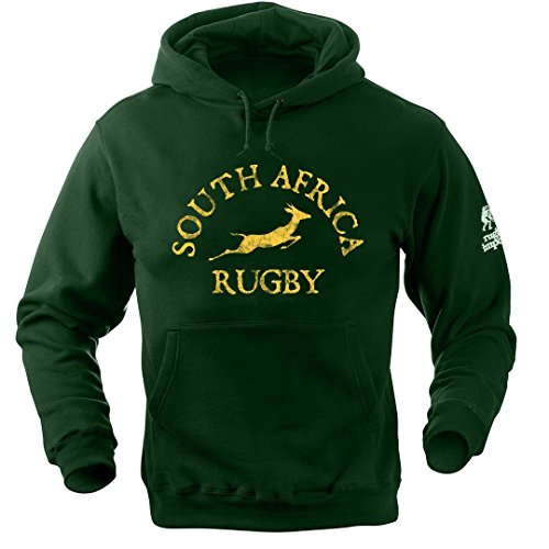 Rugby Hooded Heavyweight - SOUTH AFRICA LOGO HOODIE X LARGE