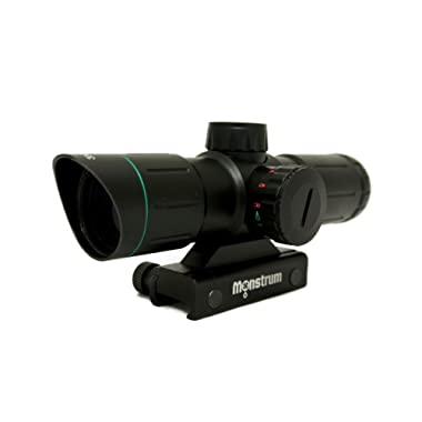 Monstrum Tactical 3x30 Ultra-Compact Rifle Scope with Illuminated Range Finder Reticle