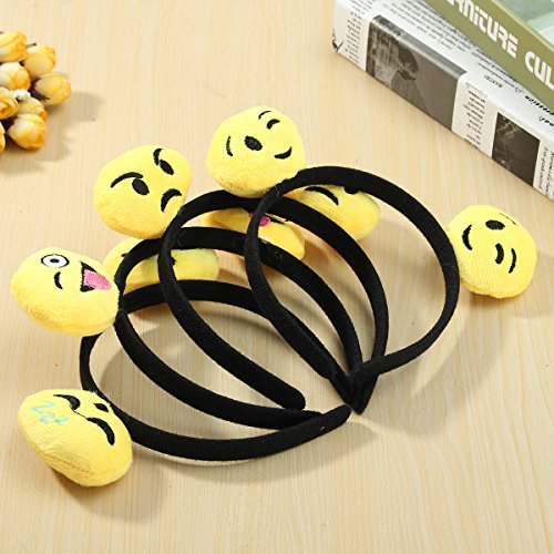 SICA 12PCS Emoji Face Ears Headbands Black Party Emoticons Costume Birthday Gift