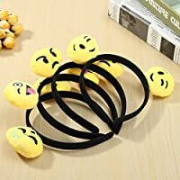 New 12PCS Emoji Face Ears Headbands Black Party Emoticons Costume Birthday Gift By KTOY