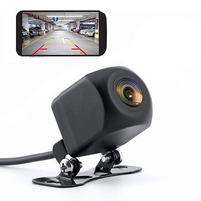 WIFI Cámara de marcha atrás Cámara de visión nocturna Cámara de visión trasera automóvil Grabadora de conducción impermeable para iPhone y Android Tacógrafo - Monitor de estacionamiento y detección