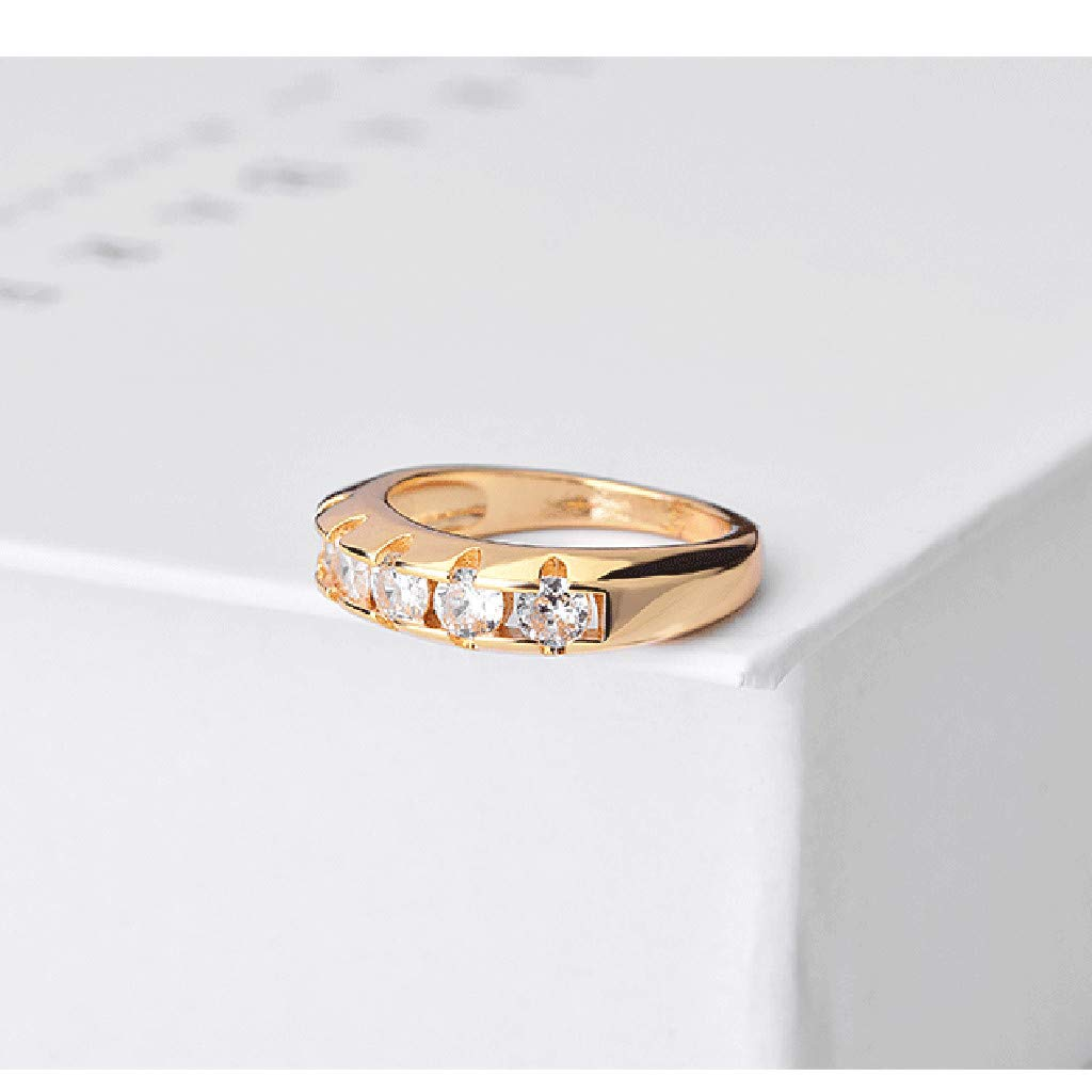 5b9d79cf94416 Amazon.com: Barhalk Simple Fashion Ring Shiny Diamond Inlaied ...