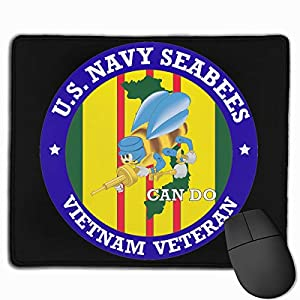 U.S. Navy Seabees Vietnam Veteran Mouse Pad Mat by ERYPONG