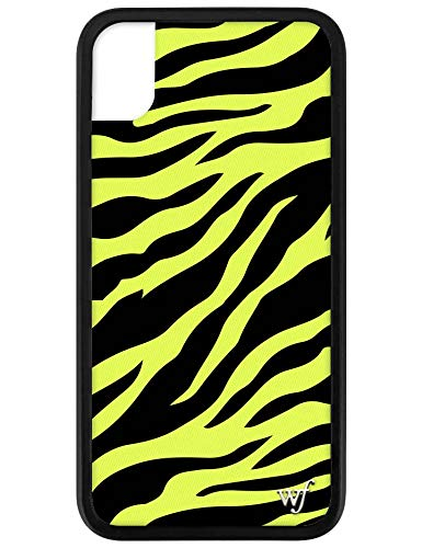 - Wildflower Limited Edition iPhone Case for iPhone XR (Neon Yellow Zebra)