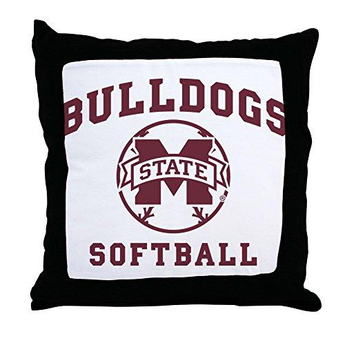 CafePress Mississippi State Bulldogs Softball - Decor Throw Pillow (18