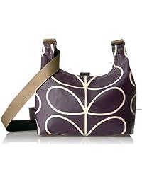 Matt Laminated Linear Stem Print Mini Sling Bag