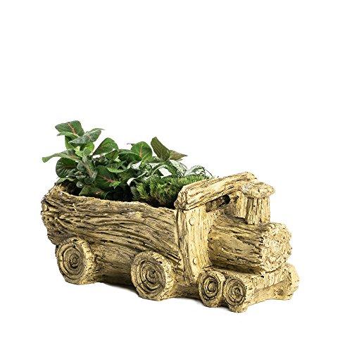 NCYP Resin Cart Truck Train Artificial Driftwood Planter Flower Pot Sculpture Succulent Planter for Decoration No Plants (Driftwood Wedding Centerpiece)