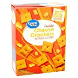 Cheddar Cheese Crackers, 12.4 oz,Pack of 4