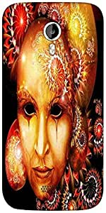 Snoogg fractal mask 2777 Designer Protective Back Case Cover For Micromax A116