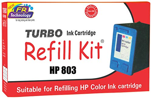 Turbo ink cartridge Refill Kit for hp 803 tri Color Ink Cartridge