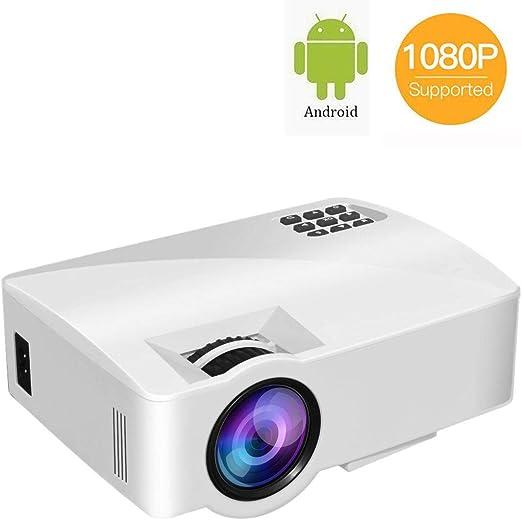 DBSCD Mini proyector, Video proyector con 1080p Full HD y Pantalla ...